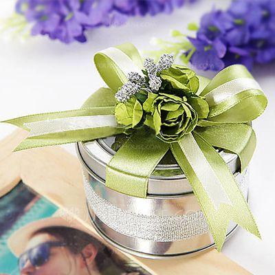 Favor Holders - $7.19 - Smiling Flower Cylinder Favor Tin With Flowers/Ribbons (Set of 6) (050013822) http://jjshouse.com/Smiling-Flower-Cylinder-Favor-Tin-With-Flowers-Ribbons-Set-Of-6-050013822-g13822