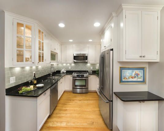 Small kitchen remodel design + dealing with corners/edges