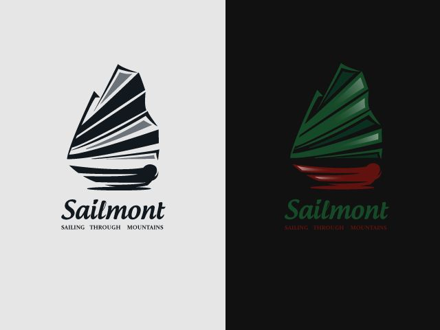 Logo for SALE! www.thracianweb.com contact@thracianweb.com    The logo is a sailing vessel, the sails of the boat are made from the shape of a mountain. The logo is great for: boat company, fishing, mountain sailing, events, travel agency, sailing and mountain lovers, etc