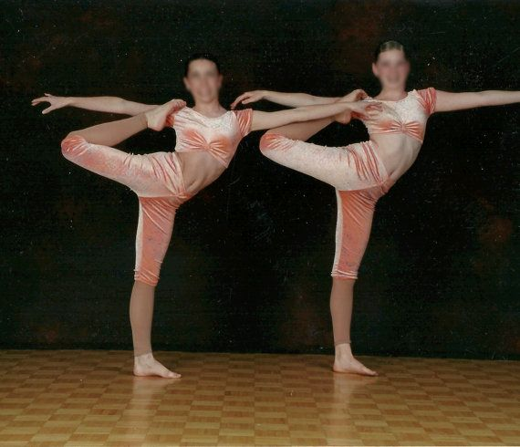 Acrobatic Dance Costume Pastel Orange Two by TheDanceCostumeShop