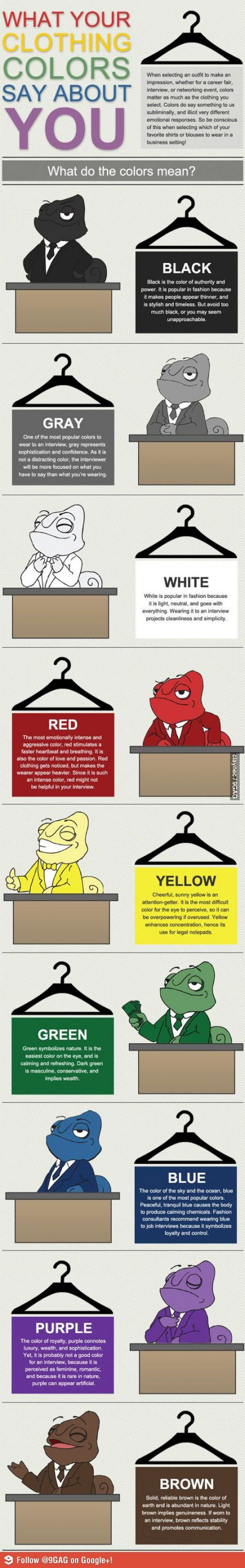 What colors say about you for an interview... Legit?