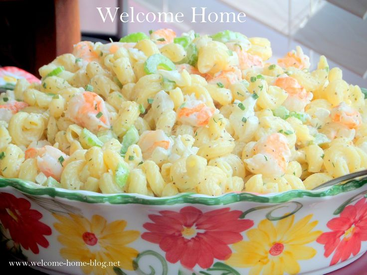 I love this salad and have been making it for years. It's smooth and creamy with tender shrimp and just the right bl...