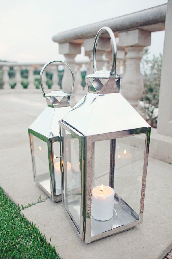 silver lanterns | Silver Lanterns With Candles - Elizabeth Anne Designs: The Wedding ...
