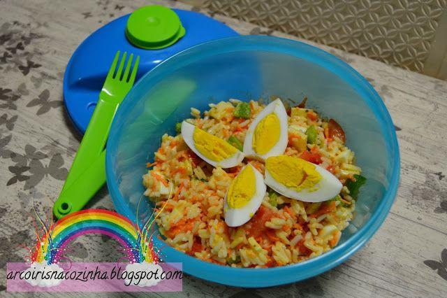 Arco-íris na Cozinha: Salada de Arroz Vegetariana