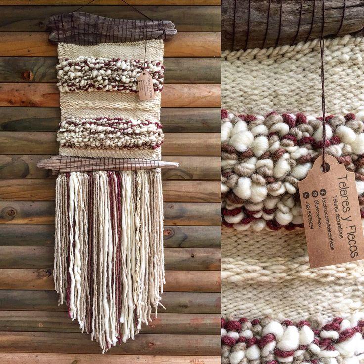 Un favorito personal de mi tienda de Etsy https://www.etsy.com/es/listing/532911563/woven-wall-hanging #wovenwallhanging #woven #wall #hanging #weaving #weave #telar #telaresyflecos #telares #flecos