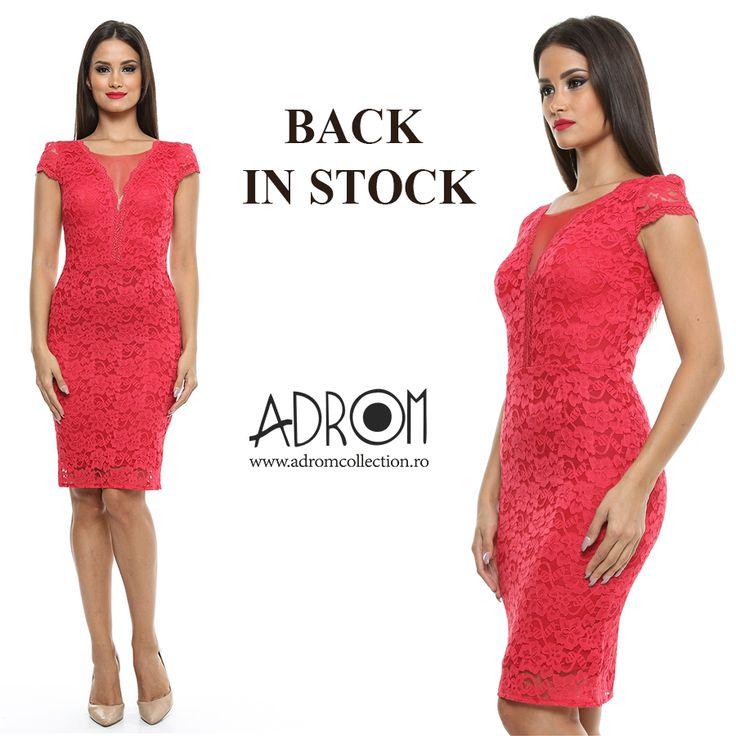 Mult îndrăgita rochie R340 a revenit în stoc. Comandă acum! http://www.adromcollection.ro/618-rochie-angro-r340.html