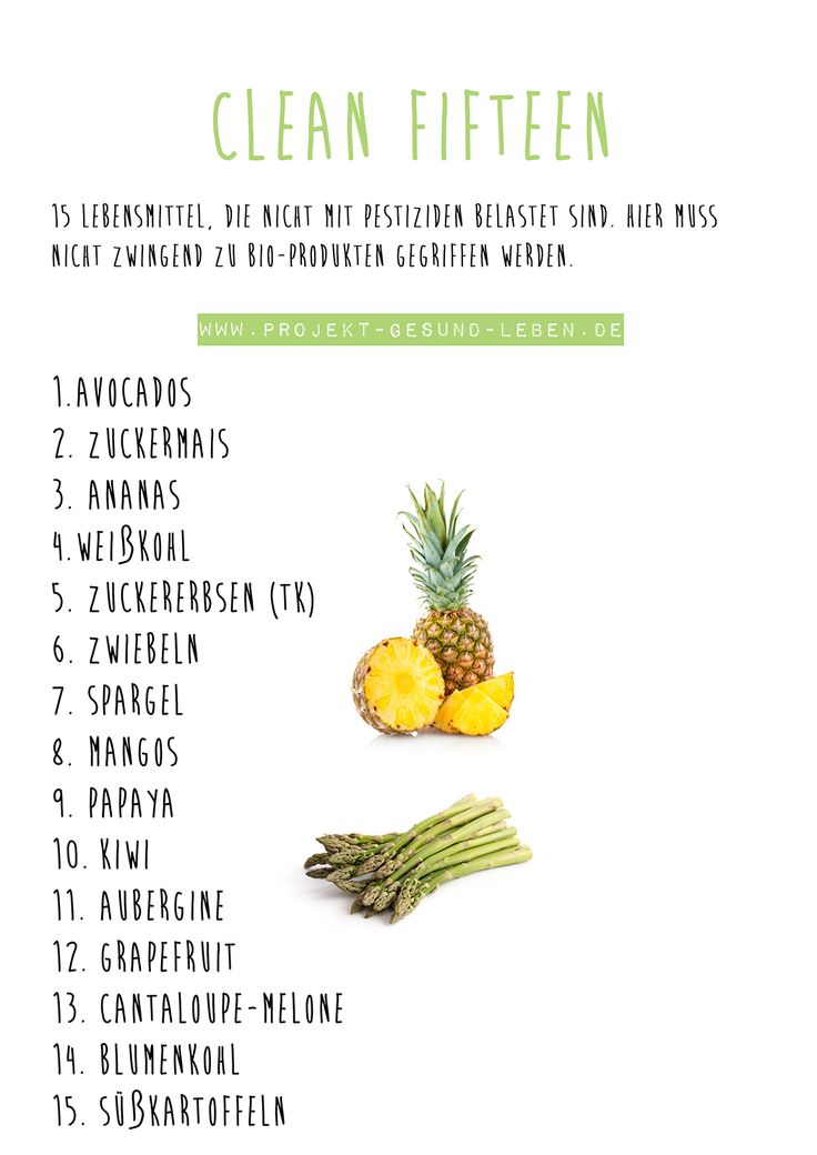 15 konventionelle Lebensmittel, die nicht mit Pestiziden belastet sind | Projekt: Gesund leben | Ernährung, Bewegung & Entspannung