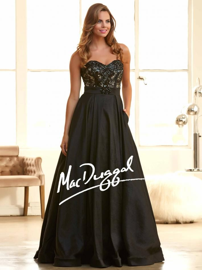 Black Ball Gown | Pocket Prom Dress | Mac Duggal 76751H