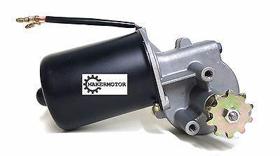 Electric Gear Motor 12v DC Low Speed 100RPM Gearmotor Roller Chain Sprocket Gear