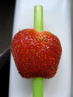 Hulling strawberries with a straw. So smart.