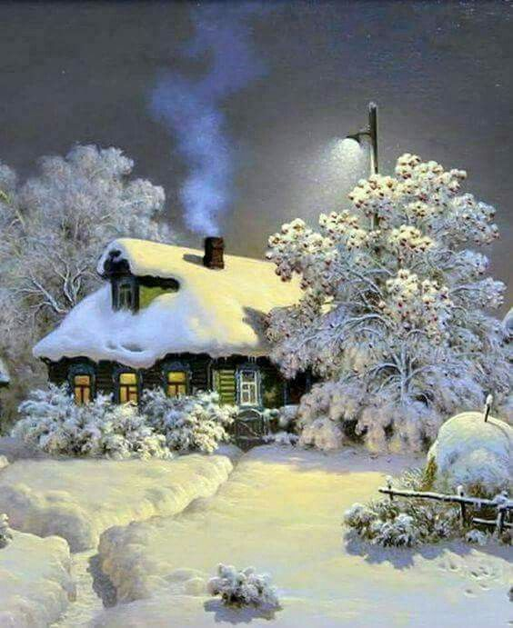 "I'm not sure who this artist is, im thinking Thomas kinkade""  Whoever it is I love it, magical"