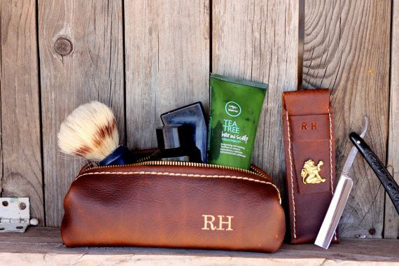 ***** NOTE: This listing is for a set of one shaving bag and one straight razor sleeve, straight razor and shaving accessories are not included