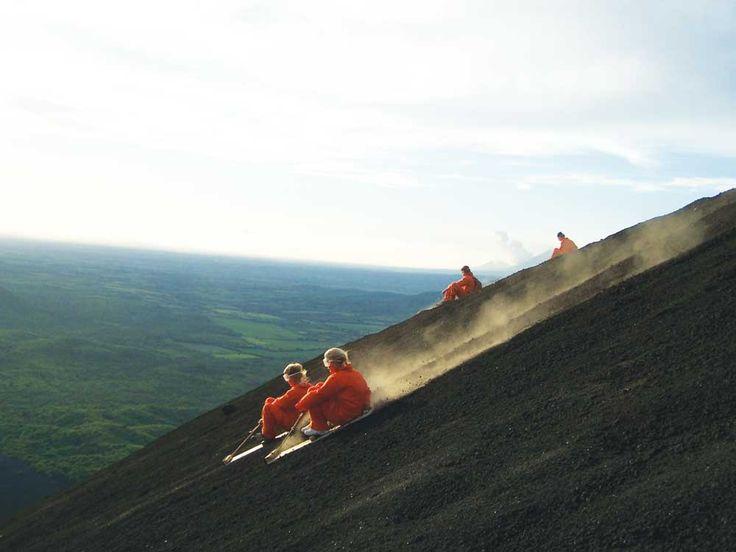Volcano-Boarding in Nicaragua