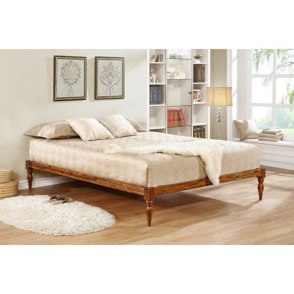The Calibos Wood Bed Frame With Turned Legs Delivers The Perfect