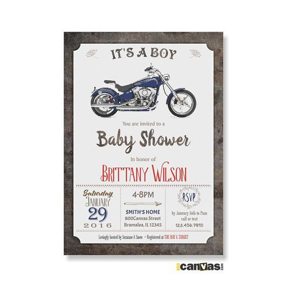 Hey, I found this really awesome Etsy listing at https://www.etsy.com/listing/260881671/motorbike-baby-shower-invitation