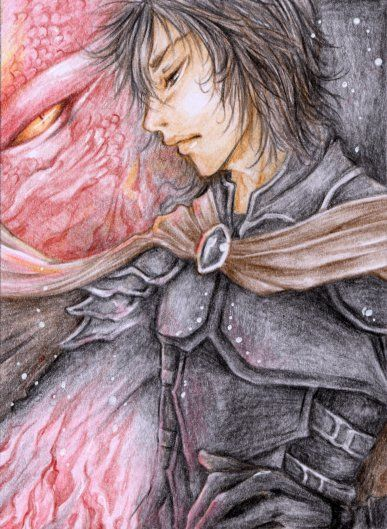Aceo 174 - Until the End by ~cross-works on deviantART Murtagh from the book series Eragon.