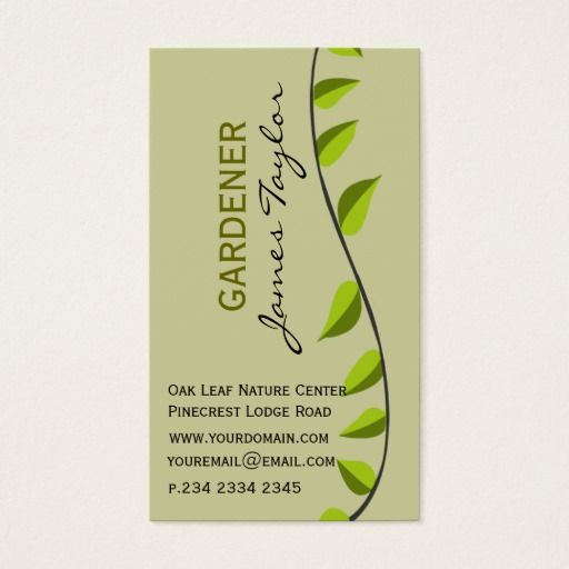 233 best gardening business cards images on pinterest carte de garden leaf gardening green professional business card accmission Image collections