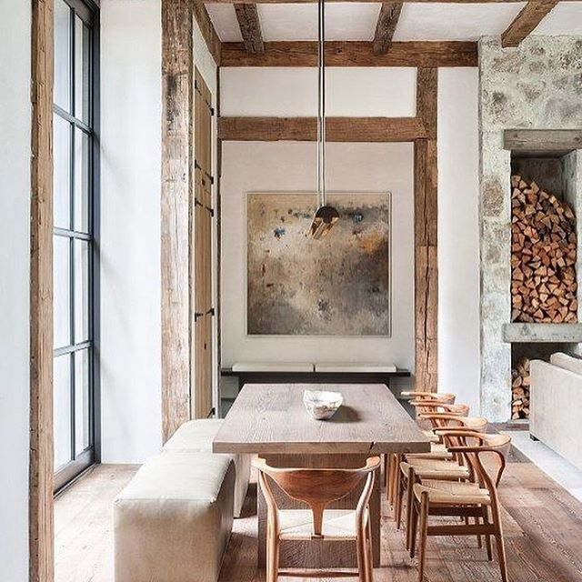 Simple, beautiful & perfectly rustic. Love this space designed by #DStanleyDixonArchitect. What's your favorite detail here? | @scoutandnimble Instagram