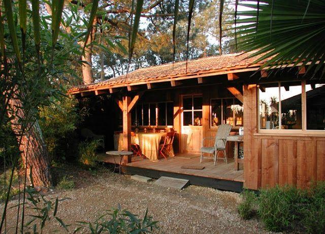 Les cabanes en bois bartherotte cap ferret via nat et - Maison en bois cap ferret ...