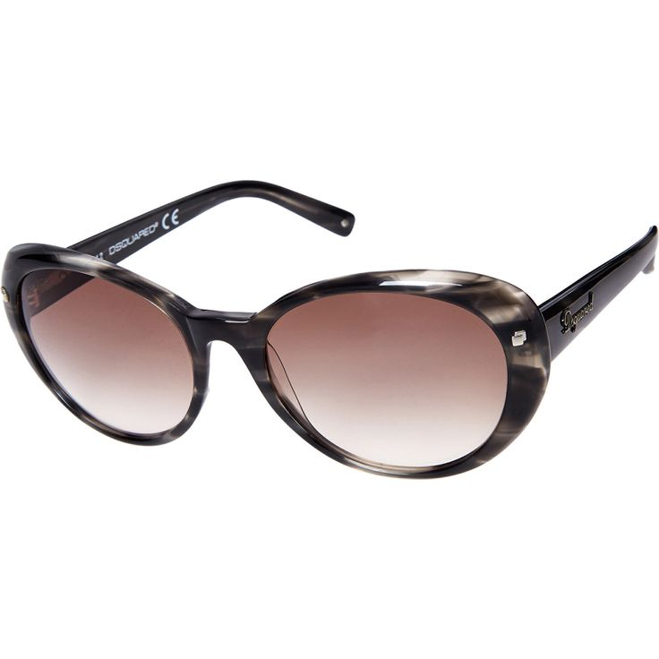 """Dsquared"" Grey Ombre Oval Sunglasses - TK Maxx"
