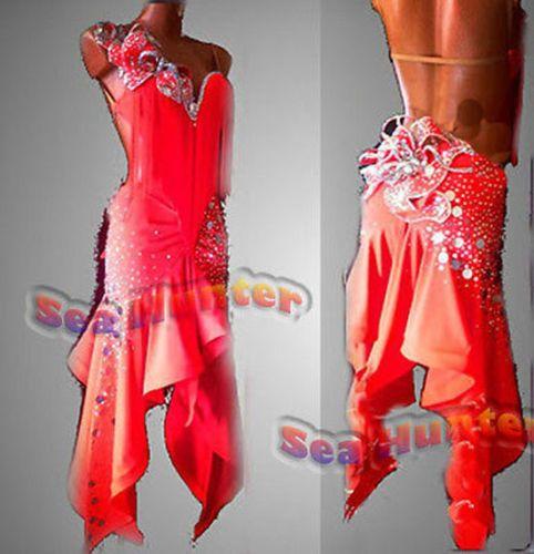 Muti-design competition Ballroom samba Latin chacha swing dance dress US 6 8 10