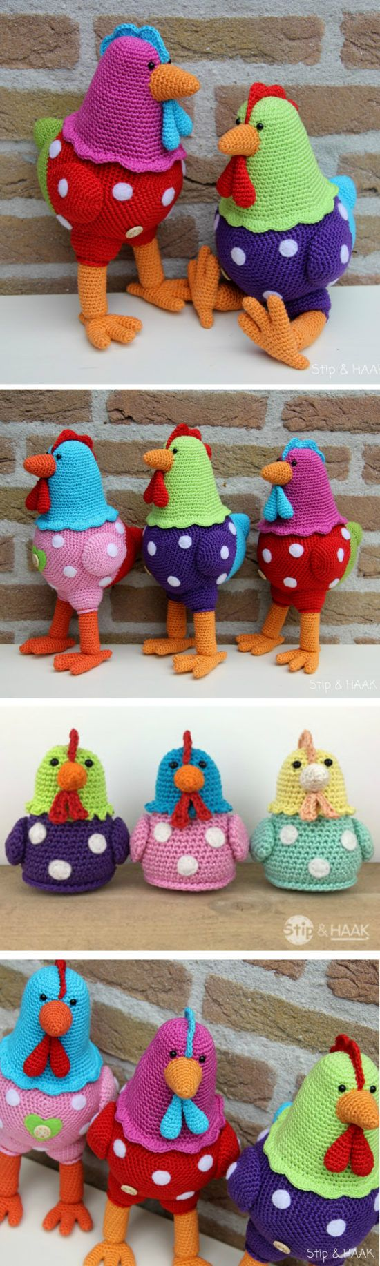 Vintage Crochet Chicken Patterns Cute Ideas