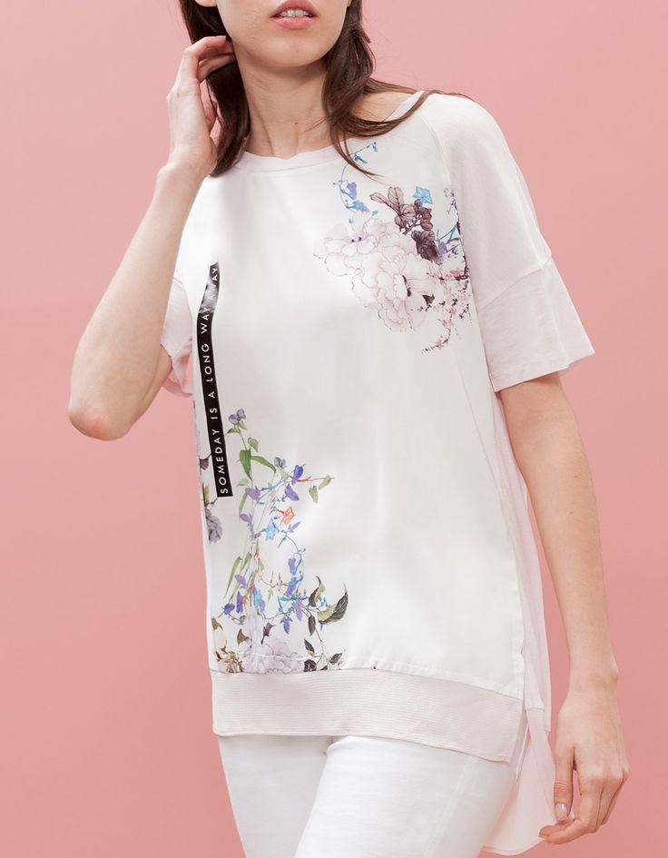 Camiseta trimateria print oriental