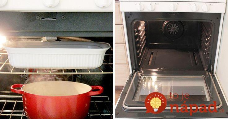 Jednoduchý trik, ako vyčistiť aj veľmi znečistenú rúru