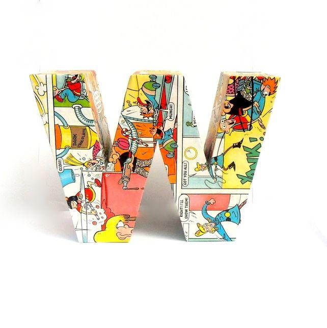The Dandy Comic Book Desperate Dan 3D Freestanding Letters Number Custom £7.00