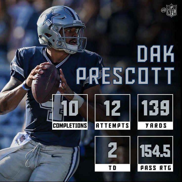 Dak Prescott #4 QB Dallas Cowboys PreSeason 2016
