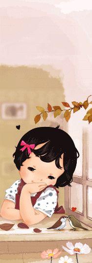 MY SWEET BABY nenita con osito minigifs gifs imágen para imprimir