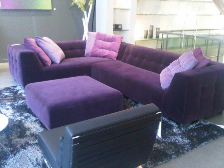 Purple sectional sofa ligne roset purple sectional for Purple sofa