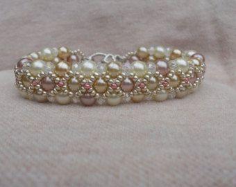 Key Lime Pie bead woven bracelet