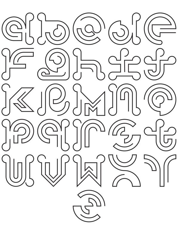 The Single Type | Free Font by Theo Kontaxis, via Behance