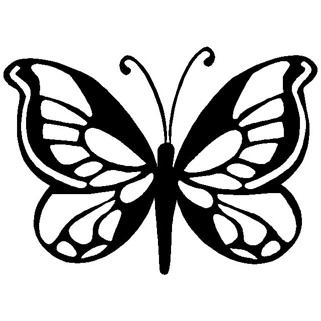 Butterfly Stencils | Monarch butterfly stencil