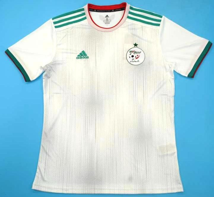 Maillot Foot Equipe D Algerie 2019 Soccer Jersey Compression Fabric Jersey