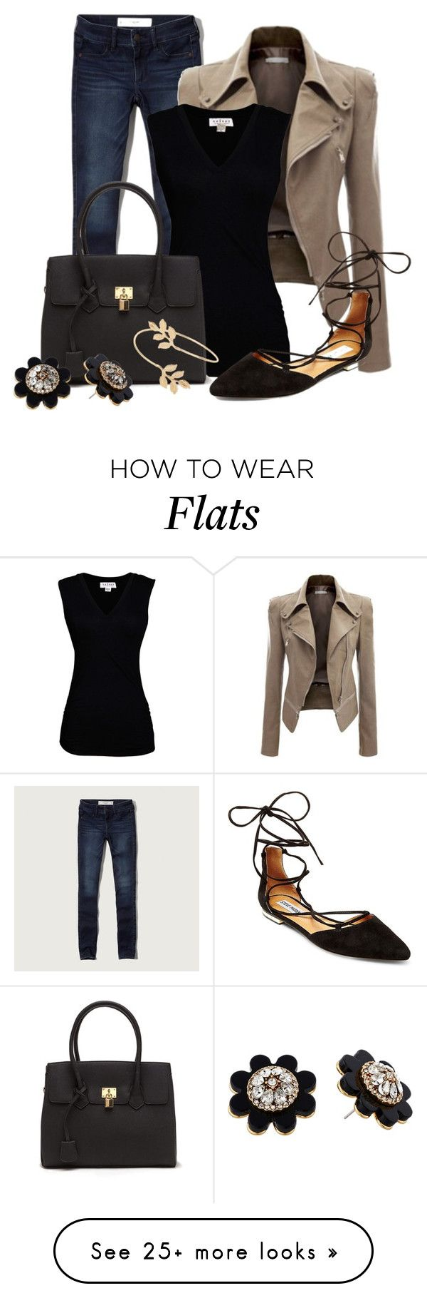 """Teacher Attire: Outfit 5"" by vanessa-bohlmann on Polyvore featuring Abercrombie & Fitch, Velvet by Graham & Spencer, Steve Madden, Miss Selfridge and Kate Spade"