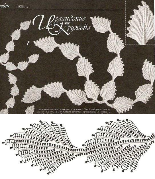 Irish Crochet leaf