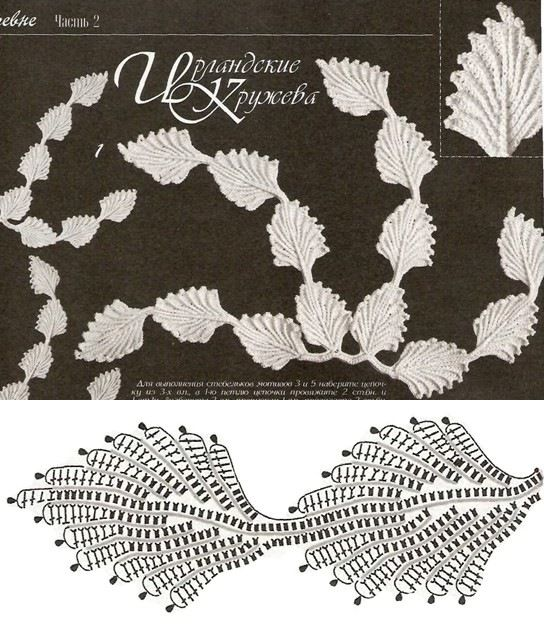 Irish Crochet Lace Motif