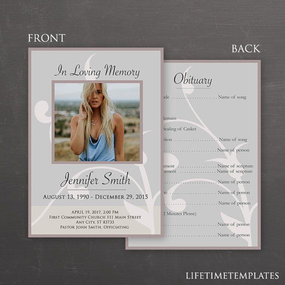 Best Memorial Service Images On   Card Patterns Card