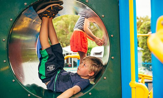 Enjoy our playground when you're staying in one of our many accommodaiton options.  #MelbourneBIG4