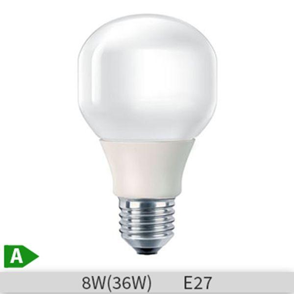Bec economic Philips Softone, forma standard, E27, 8W, 10000 ore, lumina calda http://www.etbm.ro/becuri-economice