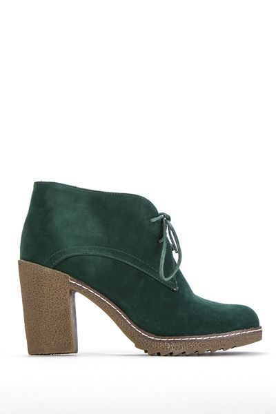 Suedette Tie-Up Ankle Boots @ Everything5pounds.com