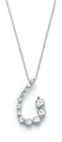 Sterling Silver CZ Swirl Pendant - JewelryWeb JewelryWeb. $58.70