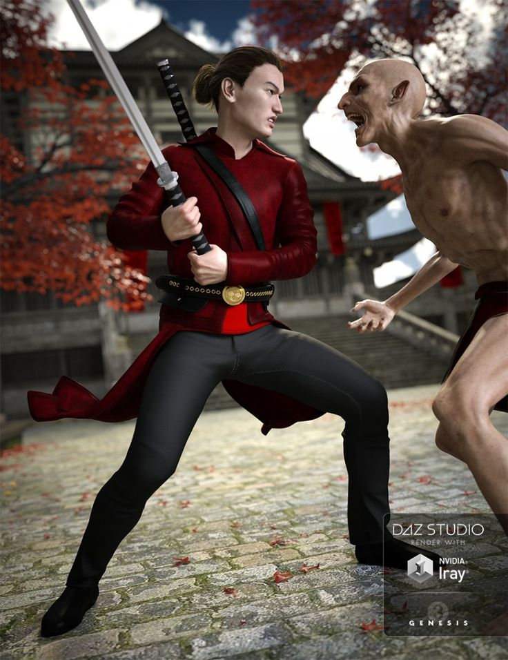 Vampire Hunter Outfit for Genesis 3 Male(s)