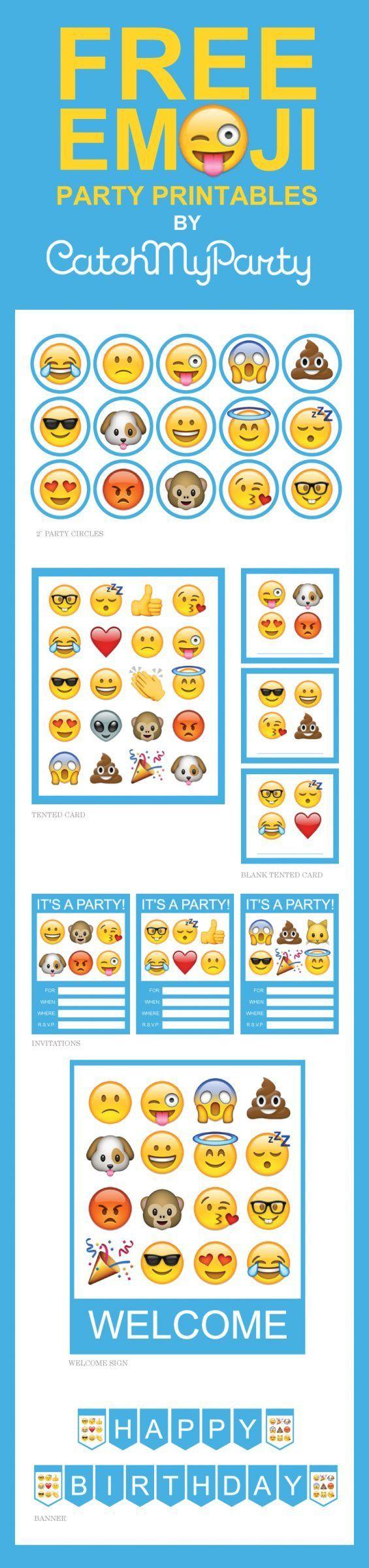 Ideas para fiestas de Emoji (27) - Decoracion de Fiestas Cumpleaños Bodas, Baby shower, Bautizo, Despedidas