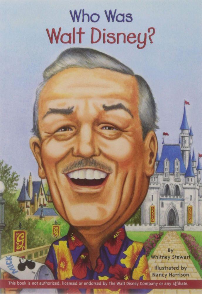 Who Was Walt Disney? (pb) Cartoonist, Entrepreneur by Whitney Stewart NEW