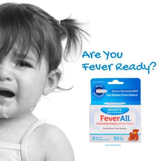 #BeFeverReady with FeverAll and give your child the purest form of acetaminophen with fever inactive ingredients than the leading acetaminophen oral brand.* Its fever relief made simple.  *Versus infants' Tylenol acetaminophen oral suspension.