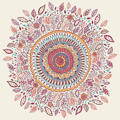 Love the little leaves.. Sunflower Mandala Art Print by Janet Broxon | Society6