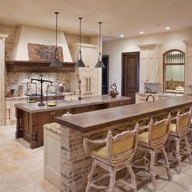 Stone facing ideas - Spaces Stone Veneer Kitchen Island Design, Pictures, Remodel, Decor and Ideas - page 15